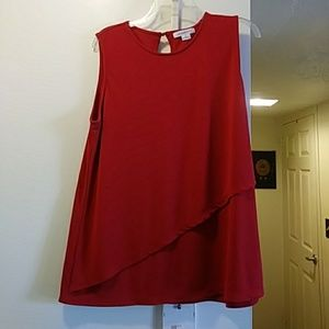 Liz Claiborne red top